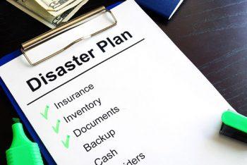 A Disaster Plan checklist.